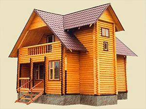 """Проект дома из оцилиндрованного бревна с балконом """"ДО№1"""" Цена: договорная"""