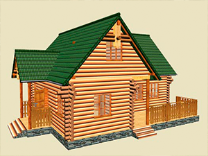 Проект дома из оцилиндрованного бревна ДО№14 Цена: договорная