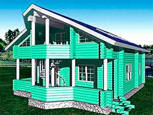 Проект 2-этажного дома с балконом ДО№16 Цена: договорная