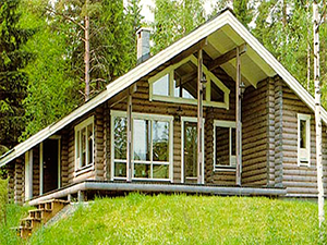 Проект дома из оцилиндрованного бревна ДО№19 Цена: договорная