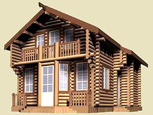 Проект дома из бревна с балконом ДО№21 Цена: договорная