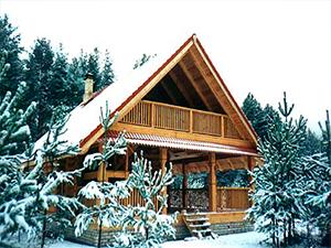 Проект дома из бревна с мансардой и верандой ДО№30 Цена: договорная
