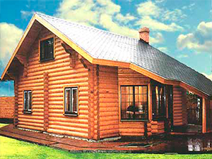 Проект дома из оцилиндрованного бревна ДО№31 Цена: договорная