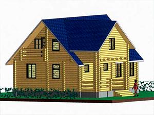Проект дома с мансардной крышей ДО№34 Цена: договорная