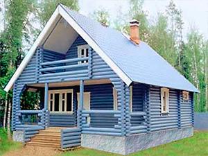 Проект дома из оцилиндрованного бревна ДО№8 Цена: договорная