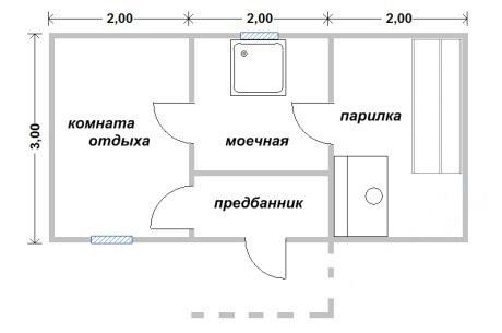 Проект бани БС №1