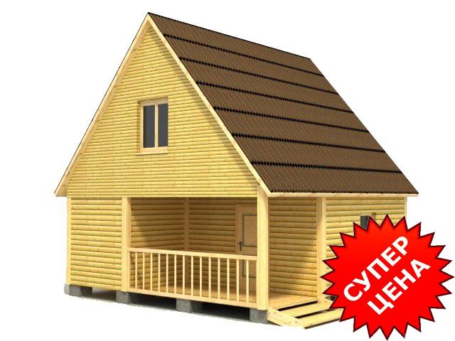 Проект деревянной бани с крыльцом БС №10 Стоимость из бруса 10х15см - 406 050 руб. Стоимость из бруса 15х15см - 467 850 руб.