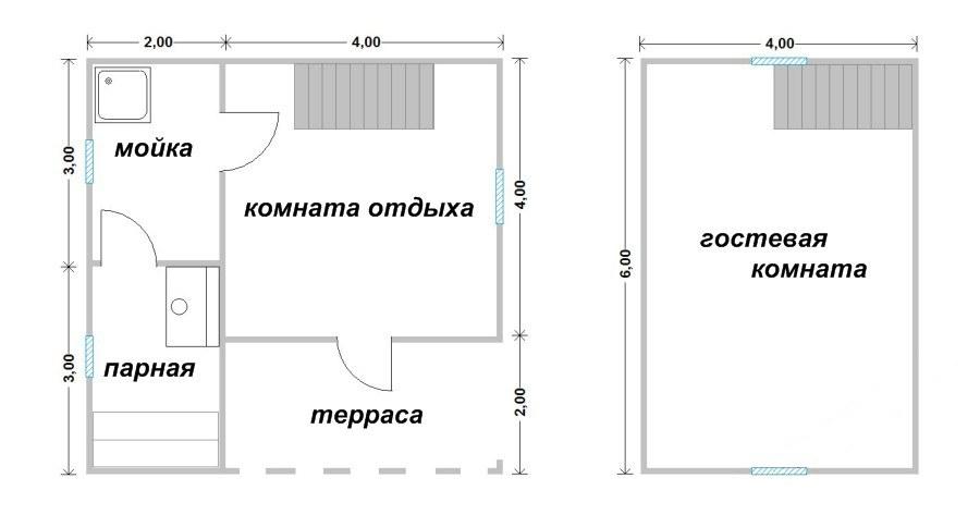 Проект бани БС №10