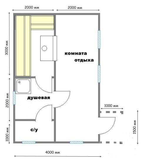 Проект бани БС №11