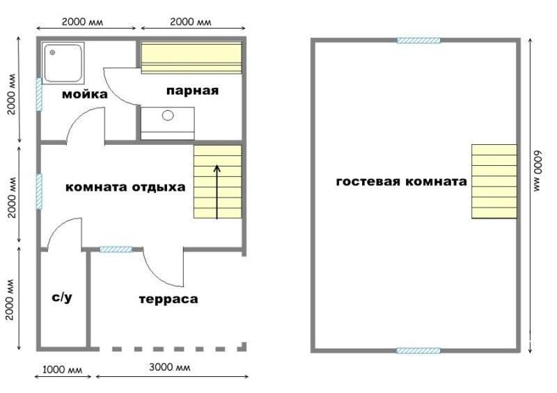 Проект бани БС №12