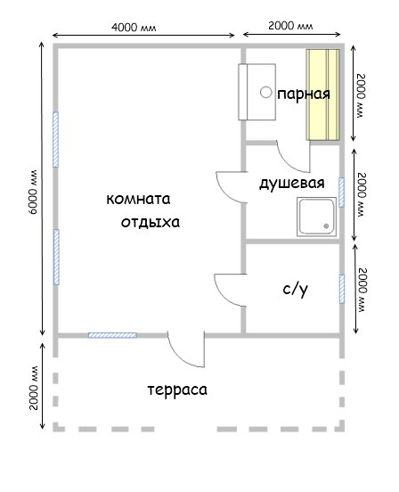 Проект бани БС №20