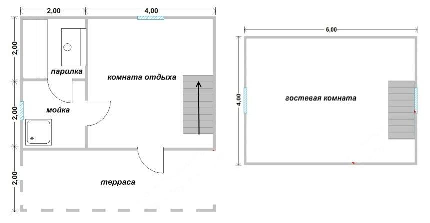 Проект бани БС №6