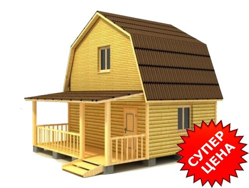 Проект деревянного дома из бруса ДС №10 Стоимость из бруса 10х15см - 476 540 руб. Стоимость из бруса 15х15см - 528 040 руб.