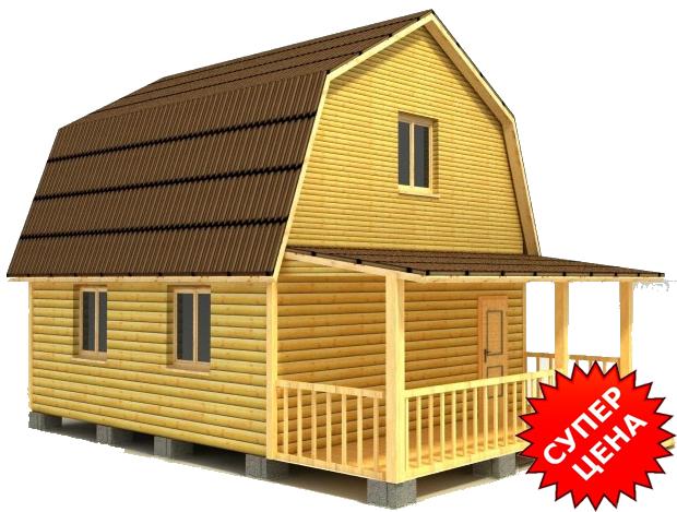 Проект дома из бруса с крыльцом ДС №21 Стоимость из бруса 10х15см - 544 780 руб. Стоимость из бруса 15х15см - 612 880 руб.