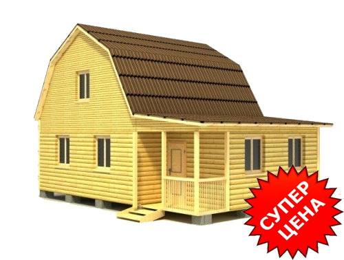 Проект деревянного дома из бруса ДС №27 Стоимость из бруса 10х15см - 843 647 руб. Стоимость из бруса 15х15см - 967 247 руб.