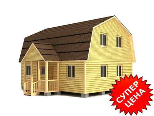 Проект дома из бруса с крыльцом ДС №32 Цена: договорная