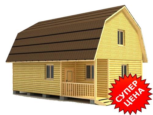 Проект дома из бруса с мансардой ДС №33 Цена: договорная
