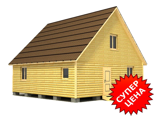 Проект дома из бруса с мансардой ДС №34 Цена: договорная