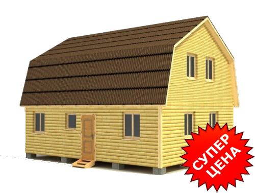 Проект дома из строганного бруса ДС №35 Цена: договорная