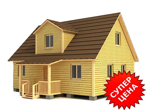 Проект дома из бруса с мансардой ДС №36 Цена: договорная