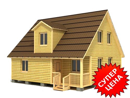 Проект дома из бруса с крыльцом ДС №37 Цена: договорная