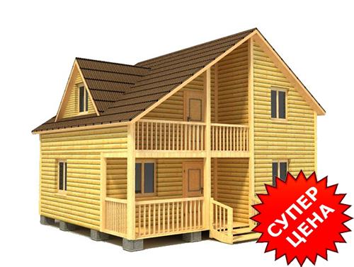 Проект дома из бруса с балконом ДС №38 Цена: договорная