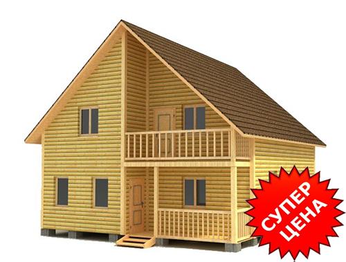 Проект дома из строганного бруса с балконом ДС №39 Цена: договорная