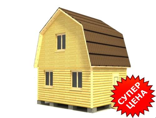 Проект дома из бруса с мансардой ДС №4 Стоимость из бруса 10х15см - 365 582 руб. Стоимость из бруса 15х15см - 417 082 руб.