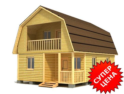 Проект дома из строганного бруса ДС №41 Цена: договорная