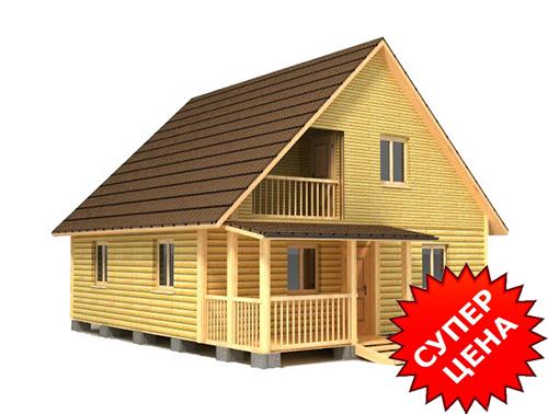 Проект дома из бруса с крыльцом ДС №42 Цена: договорная