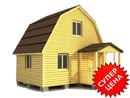 Проект деревянного дома из бруса ДС №5 Стоимость из бруса 10х15см - 390 498 руб. Стоимость из бруса 15х15см - 441 998 руб.