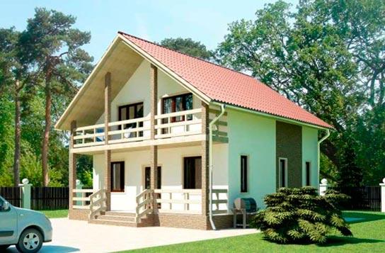 Проект дома из SIP-панелей с балконом ДК№11 Цена: 1227000 руб.