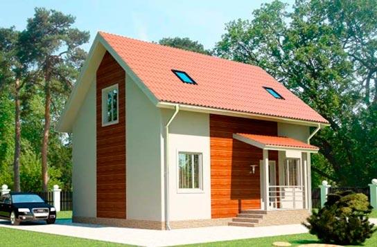 Проект 2-этажного дома из СИП-панелей ДК№13 Цена: 1085000 руб.