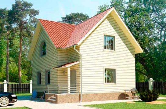 Проект дома каркасного типа с мансардой ДК№14 Цена: 1236500 руб.