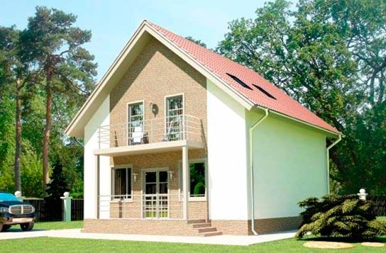 Проект дома из СИП-панелей с балконом ДК№15 Цена: 1271000 руб.