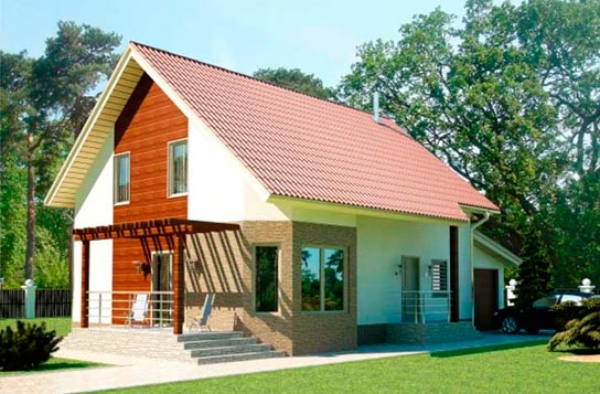 Проект дома из SIP-панелей с мансардой ДК№19 Цена: 1643000 руб.