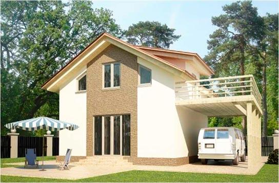 Проект дома каркасного типа ДК№1 Цена: 882000 руб.