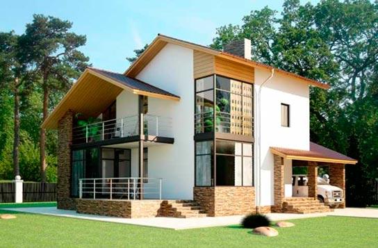 Проект дома из СИП-панелей с балконом ДК№20 Цена: 1445000 руб.