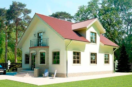 Проект 2-этажного дома из SIP-панелей ДК№21 Цена: 1645000 руб.