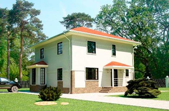 Проект 2-этажного дома из СИП-панелей ДК№23 Цена: 1586000 руб.