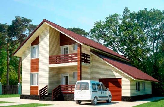 Проект дома каркасного типа с мансардой ДК№24 Цена: 1846000 руб.