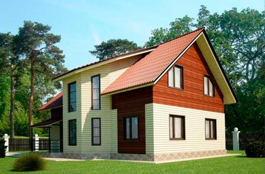 Проект дома каркасного типа из СИП-панелей ДК№25 Цена: 2005000 руб.
