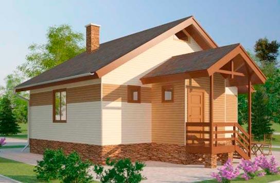 Проект дома из СИП-панелей ДК№2 Цена: 514000 руб.