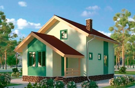 Проект дома каркасного типа с мансардой ДК№1 Цена: 857000 руб.
