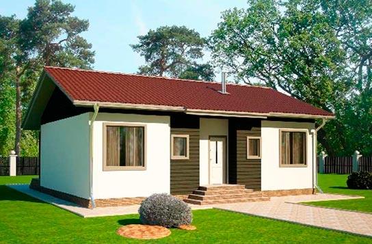 Проект дома из SIP-панелей ДК№4 Цена: 803500 руб.