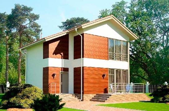 Проект 2-этажного дома каркасного типа ДК№5 Цена: 1078500 руб.