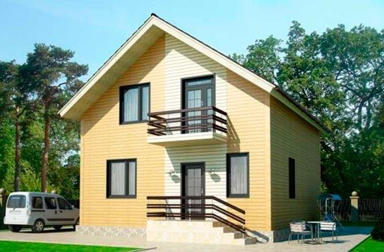 Проект дома каркасного типа с балконом ДК№6 Цена: 1153000 руб.