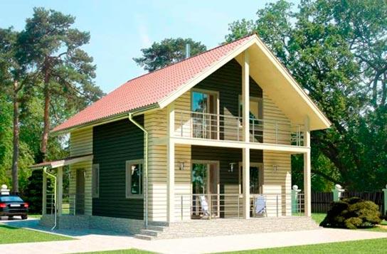 Проект дома каркасного типа с мансардой ДК№7 Цена: 1012000 руб.