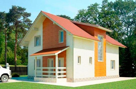Проект 2-этажного дома из СИП-панелей ДК№8 Цена: 1379000 руб.