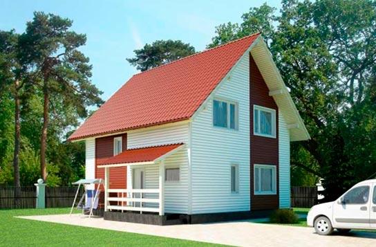 Проект дома каркасного типа с мансардой ДК№9 Цена: 1009000 руб.